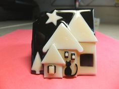 House+Pins+by+Lucinda+3D+House+Pin+Brooch++w+Star+and+Black+Cat+in+Foreground+#Lucinda