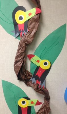 Toucan birds for jungle/safari unit Safari Party, Safari Theme, Jungle Theme, Jungle Safari, Duck Crafts, Crafts For Kids, Arts And Crafts, Craft Kids, Jungle Crafts