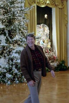 12/9/1984 President Reagan Viewing Christmas decorations in the East Room | by levanrami