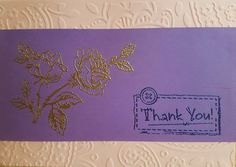 Handmade embossed greeting card - gold on purple, happy birthday card, teddy bear card, thank you card, merry christmas to you all card by ArtDenia on Etsy