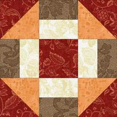 Grecian Square Quilt Block Pattern  also called Churn Dash