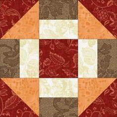 Grecian Square Quilt Block Pattern  also called Churn Dash