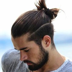 Man Bun with Full Beard