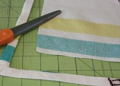 DIY How to make a pillow from a tea towel