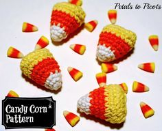 Halloween Candy Corn Free Crochet Pattern.  Thank you!  So much fun to make and display!