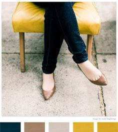 Navy, golds, and yellows... usually not a gold person but this color palette works