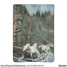 Sacred Pegasi Drinking from River Fantasy Art Device Case collection