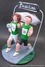 marathon couple wedding cake toppers - Google Search