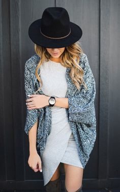 Ily Couture Heathered Shrug - Black
