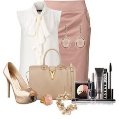 outfit by mkomorowski on Polyvore featuring polyvore, fashion, style, French Connection, Daniel Hechter, Nine West, Yves Saint Laurent, Coast, Lola James Jewelry and LORAC