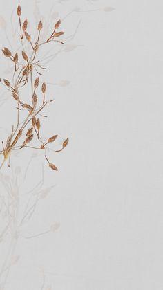 Download free illustration of Dreied flower earth tone mobile wallpaper