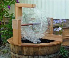 Tapplastics.com Water Wheel Garden Fountain.