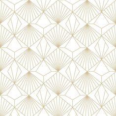 Vliesová tapeta na zeď Kabuki, Graham & Brown Foyer Wallpaper, Diamond Wallpaper, Art Deco Wallpaper, Pattern Wallpaper, Vinyl Wallpaper, White And Gold Wallpaper, Textured Wallpaper, Fashion Room, Art Deco Fashion