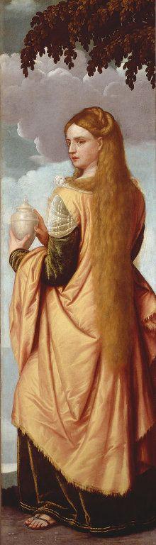 Magdalene Moretto da Brescia (Alessandro Bonvicino) Italian, c. - Portrait of a Young Woman as Mary Magdalene, da Brescia (Alessandro Bonvicino) Italian, c. - Portrait of a Young Woman as Mary Magdalene, Renaissance Kunst, Renaissance Paintings, Italian Renaissance, Maria Magdalena, Noli Me Tangere, Pre Raphaelite, Art Institute Of Chicago, Italian Art, Religious Art