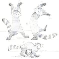 Red Panda - Sketches by Diane Dufour (Artist Name:Tagadiane)