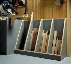 Lumber storage - Cut Off Lumber Rack Storage Unit Woodworking Plan, Shop Project Plan WOOD Store Woodworking Shows, Beginner Woodworking Projects, Woodworking Patterns, Popular Woodworking, Woodworking Furniture, Woodworking Crafts, Woodworking Plans, Woodworking Quotes, Woodworking Workshop