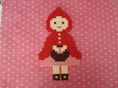 Little Red Riding Hood. Hama perler bead decor art. Fairytale decoration. etsy