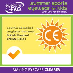 Look for the CE mark on children's specs before you buy the,