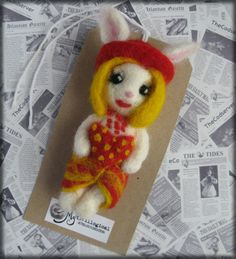 Girls Just Wanna Have Fun-y Bunny Needle Felted Cyndi Lauper Style Rabbit Brooch. £18.50, via Etsy.