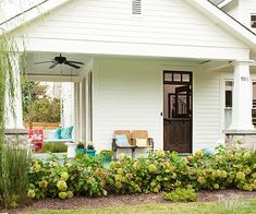 Cottage makeover- love the porch!