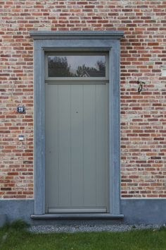 House Entrance, Entrance Doors, Garage Doors, Beach Road, Outdoor Spaces, Outdoor Decor, Brickwork, Windows And Doors, Facade