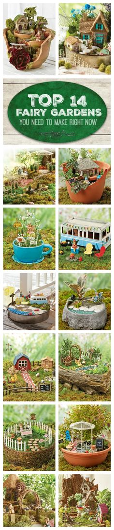 Nothing is more fun than sitting down and making your own miniature world! | Create your own fairy garden with these helpful tips and tricks! | DIY Fairy Garden | Fairy Garden Projects | Fairy Home | Garden Projects | Pin now read later | Fairy Garden