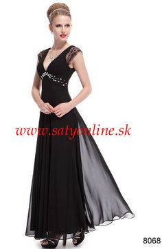 Čierne krajove šaty 8068