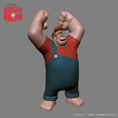 "Early model of Wreck-it Ralph. Refereed to as ""Hillbilly Ralph"" by Chad Stubblefield."