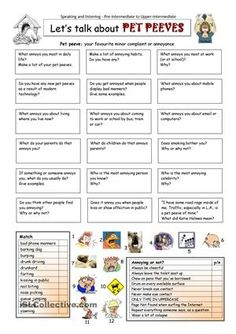 This worksheet contains 18 conversation cards, a matching exercise and a question box. The cards can be cut out if desired and be used as conversation questions. Can be used with both young learners and adults (pre-intermediate up). - ESL worksheets