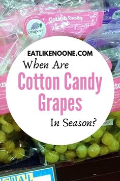 Learn all about when your favorite grapes are in season, so that you never miss out on these tasty treats. Yes, they really do taste like Cotton Candy.  #grapes #greengrapes #cottoncandy #inseason #seasonal Black Grapes, Green Grapes, Cotton Candy Grapes, Types Of Fruit, Fresh Market, How To Eat Better, Best Fruits, Fruit In Season, Farmers Market