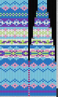 Gráficos Tricksy Knitter: yoke2 por norisea