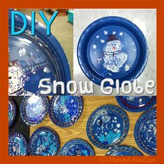 DIY Kindergarten Snow Globes {Used to accompany Snowman series books} - Find me now at MyCreativekingdom.Com