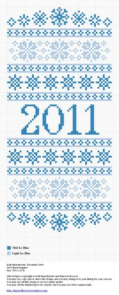 2011 Band Sampler, designed by @Kelly Teske Goldsworthy Teske Goldsworthy Ingram Smurthwaite from Kincavel Krosses.