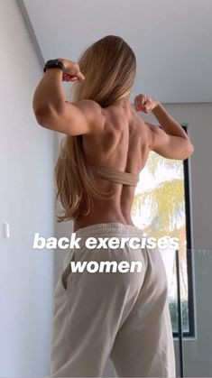 Back Fat Workout, Butt Workout, Gym Workout Videos, Workouts, Back Exercises, Stretches, Fitness Workout For Women, Workout For Beginners, Fitness Inspiration