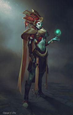 Hot elf wizard in game boobs