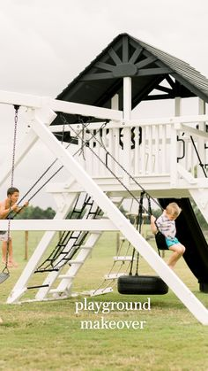 Kids Backyard Playground, Backyard Swing Sets, Backyard Playset, Backyard For Kids, Backyard Pools, Backyard Play Areas, Playset Diy, Outdoor Swing Sets, Backyard Fort