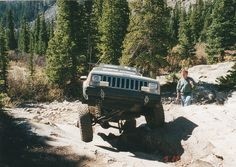 Jeep Cherokee (XJ) doing what they do best.