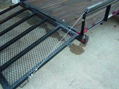 "Tailgate Lift Assist by jniolon -- Homemade tailgate lift assist fabricated from 2"" square steel tubing. Utilizes spring force to aid in lifting and lowering the gate. http://www.homemadetools.net/homemade-tailgate-lift-assist"