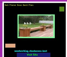 Deck Planter Boxes Bench Plans 073804 - Woodworking Plans and Projects!