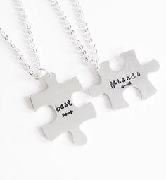 Cutest best friend necklaces :)