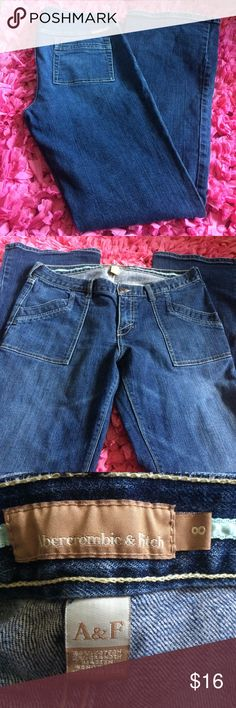 Abercrombie and Fitch jeans Size 8. Very good condition. Minor wear on bottom hem and back pockets.   Measurements laying flat: Waist: 16 Inseam: 31  ❤️No trades or other websites ❤️Open to reasonable offers  ❤️Next day ship Mon-Sat ❤️4.9 rating ❤️200+ listings sold Abercrombie & Fitch Jeans Boot Cut