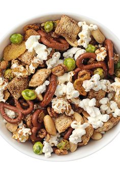Cereal, pretzels, peanuts and, of course, popcorn, this classic snack with a spicy twist has something everyone will enjoy.
