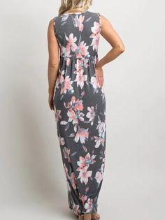 cc5fd046bc03f Maternity Fashion - skinny maternity dresses : Dellytop Womens Maternity  Dress Summer Floral Sleeveless Twist Knot