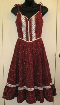 1970′s Prairie Dress - Gunne Sax