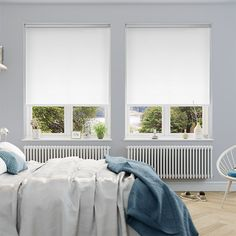 Sevilla Tranquility Brilliant White Blackout Roller Blind from Blinds 2go