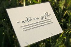 INVITATION - GIFT _ Letterpress Wedding Invitations Blind Emboss by DancingPenandPress