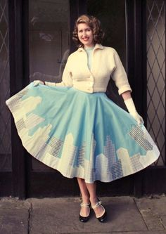 Oh yeah. I made a skirt. Back last year when I made my London Calling circle skirt , I had so many other embellishment ideas that I filed t...