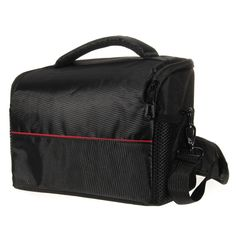 Portable Waterproof Shockproof Nylon Black DSLR SLR Camera Shoulder Messenger Bag Case Approx. 265x140x190mm #Affiliate