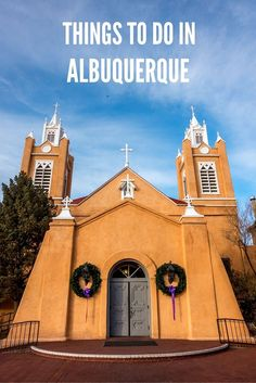 One of the top things to do in Albuquerque, New Mexico, is to explore the Old Town art galleries and San Felipe de Neri church. Vacation Places, Places To Travel, Places To Go, Vacation Ideas, Vacations, Canada Travel, Travel Usa, Travel New Mexico, Mexico Vacation