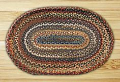 Braided Oval Random Colors Primitive Rug -  Earth Capitol C-999 - BIG SELECTION!  Free Shipping Over $70  Extra 10% Off When You Spend $100 or More   #CapitolEarthRugs #Braided